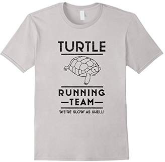 Turtle Running Team We're Slow as Hell Shell Runner T-Shirt