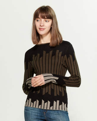 YAL New York Intarsia Stripe Long Sleeve Sweater