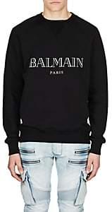 Balmain Men's Logo Cotton Raglan Sweatshirt-Black