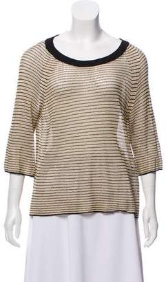 Zadig & Voltaire Metallic Knit Top