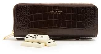 Smythson Mara Leather Dominoes Set - Mens - Brown