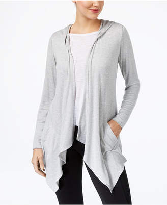 Style&Co. Style & Co Hooded Draped Cardigan, Created for Macy's