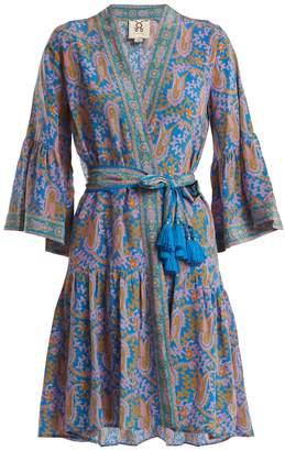 Figue Caroline paisley-print silk wrap dress