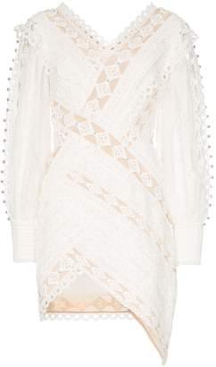 Zimmermann Moncure lace detail studded mini dress