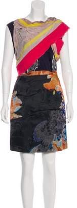 Michael Van Der Ham Silk Mini Dress