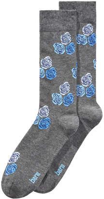 Bar III Men's Floral-Print Socks