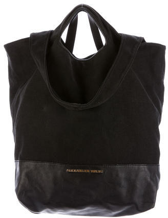 Alexander Wang Alexander Wang Leather-Trimmed Canvas Tote