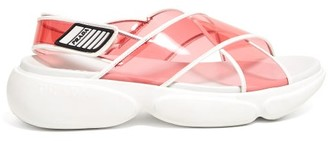 Prada Cloudbust Pvc Sandals - Womens - Pink Multi