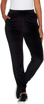 Lisa Rinna Collection Pull-On Velour Jogger Pants