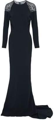 Stella McCartney Lace-Paneled Crepe Gown