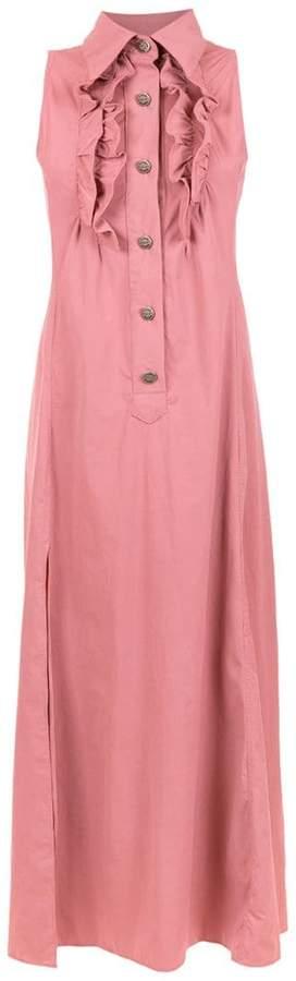 Amir Slama ruffled shirt dress