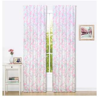 "The Peanut Shell The Window Panel - 2pk (84"") - Pink Floral"