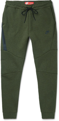Nike Tapered Cotton-Blend Tech Fleece Sweatpants $100 thestylecure.com