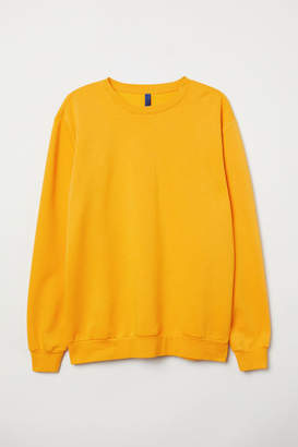 H&M Relaxed-fit Sweatshirt - Yellow