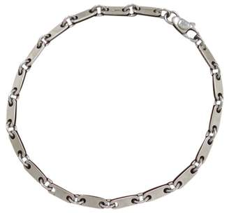 Cartier 18K White Gold Figaro Bangle Bracelet