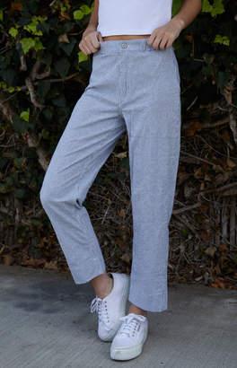 John Galt White & Grey Striped Tilden Pants