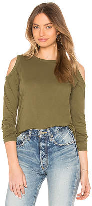 Bobi Jersey Cold Shoulder Top