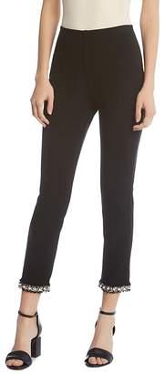 Karen Kane Piper Embellished-Cuff Cropped Pants