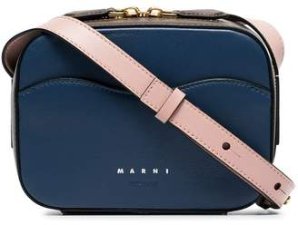 Marni blue Shell leather cross-body bag