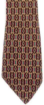 Fendi Flag Pendant Print Silk Tie