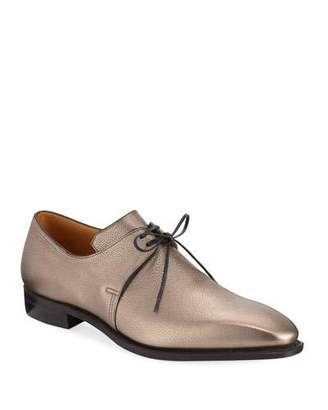 Arca Corthay Metallic Leather Derby Shoe