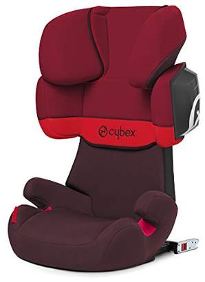 Kurt Geiger CYBEX Silver Solution X2-Fix Child's Car Seat, For Cars with and without ISOFIX, Group 2/3 (15-36 , From approx. 3 to approx. 12 years, Rumba Red