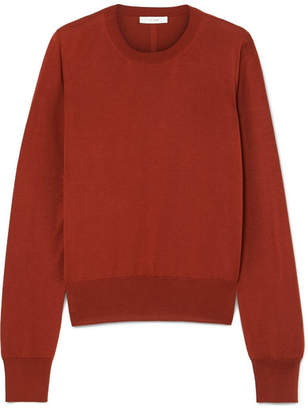 The Row Den Silk-blend Sweater - Brick