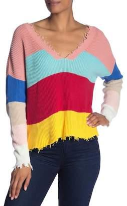 Fate V-Neck Stripe Sweater
