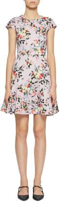 Erdem Darlina Short-Sleeve Floral Fit-&-Flare Dress