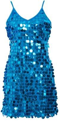 Quiz Blue Sequin Embellished Bodycon Dress