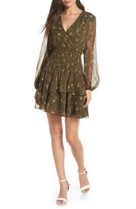 Bardot Ditsy Shirred Waist Dress