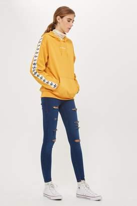 Topshop Rich Blue Super Ripped Joni Jeans