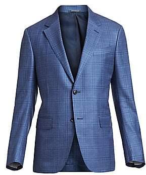 Ermenegildo Zegna Men's Windowpane Single-Breasted Jacket