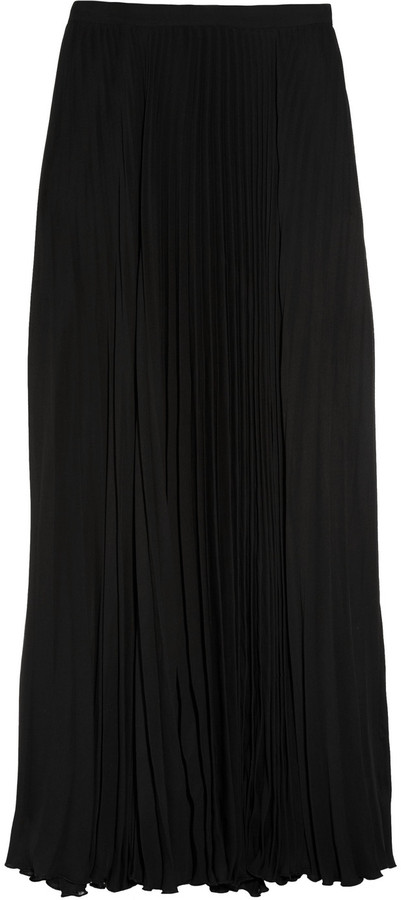 Mason by Michelle Mason Georgette pleated maxi skirt