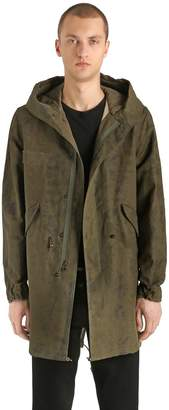 Mr & Mrs Italy Cotton & Linen Canvas Long Army Parka