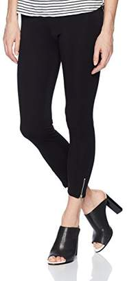 Lysse Women's Mini Zip Light Weight Ponte Crop Legging