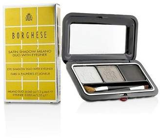 Borghese NEW Satin Shadow Milano Duo With Eyeliner - # 03 Platinum Pietra 4.15g