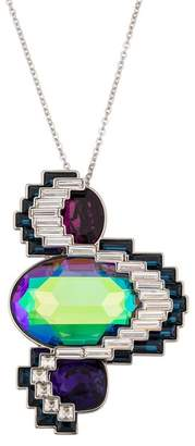 Swarovski Palladium Plated Supernova Crystal Pendant Necklace