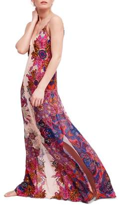 Free People Wildflower Print Maxi Slipdress