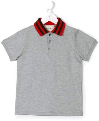 Gucci Kids Web collar polo shirt