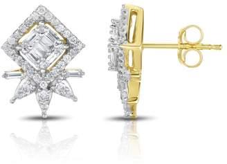 10k Yellow Gold Diamond Star Earrings