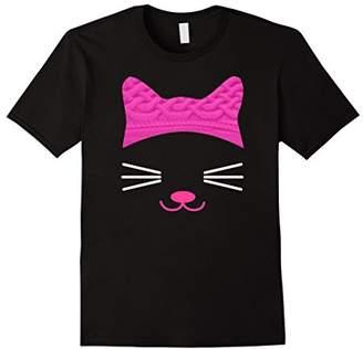 Pink Cat Hat Beanie Cat Face Women's March T-Shirt