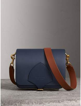 Burberry The Square Satchel in Leather, Blue