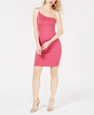 GUESS Asymmetrical-Neck Bodycon Dress