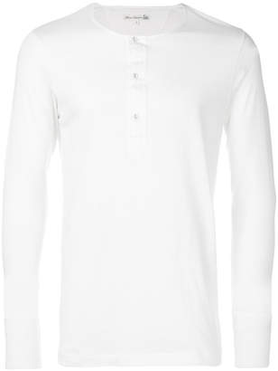 Merz b.Schwanen Merz B. Schwanen button detail T-shirt
