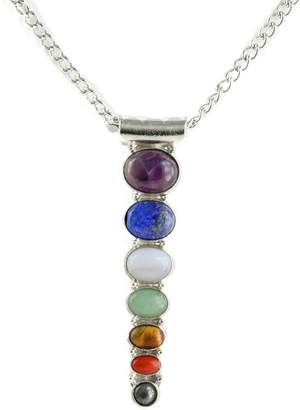 "Simplicity Chakra Necklace w/ Semi-Precious Stone 18"" chain with 3"" Extender"
