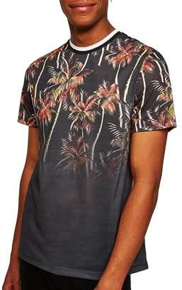 Topman Palm Tree Print T-Shirt