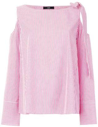 Steffen Schraut striped bow blouse