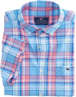 Vineyard Vines Short-Sleeve Bluff House Plaid Classic Tucker Shirt