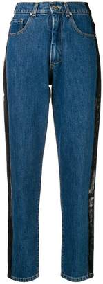 Misbhv side paint stripe jeans